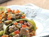 Fazzoletti pasta fresca agli spinaci tonno verdure