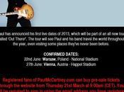 Paul McCartney annuncia nuovo tour 2013