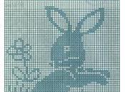Schemi filet: Quadretti coniglietto pulcino carino