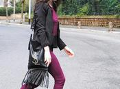 Today's outfit: Burgundy Black
