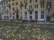 Eventi Fuorisalone 2013 Milano: CRACKING GROUP lancio rane Navigli PIENADIRANE Naviglio Grande