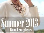 Aquamarine green round Sunglasses
