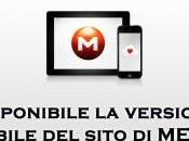 MEGA: disponibile versione mobile sito smartphone tablet