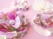 Fiori Stoffa Shabby Chic Fabric Flowers