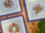 Schema punto croce: quadretti fiori