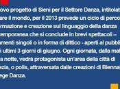DANZA: Biennale Venezia linguaggio della danza contemporanea Danza diretta Virgilio Sieni
