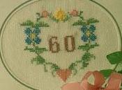 Schema punto croce: Biglietti d'auguri Cesto, Cuore fiori, numeri