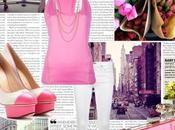 Baby pink total look LOVE color!
