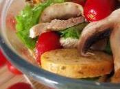 Insalatona pollo, olive, funghi pomodorini