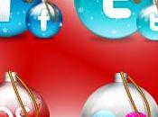 icone social network forma palle Natale