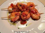 Ricette base pesce spiedini gamberoni pomodoro fresco