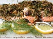 Trota salmonata finocchietto selvatico, cipollotto Tropea olive taggiasche