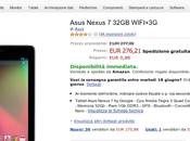 Asus Nexus 32GB WIFI+3G euro Amazon Italia