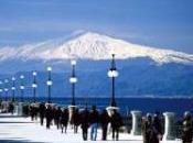 L'Etna, importante vulcano d'Europa attività patrimonio Unesco
