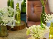 old-glass wedding centerpieces