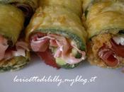 rotolini zucchine fritte philadelphia prosciutto crudo