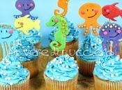 Tutorial cupcakes dell'estate soggetti marini: medusa, pesce, cavalluccio marino, polipo