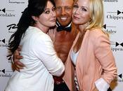 Shannen Doherty Jennie Garth insieme spogliarello collega Ziering