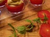 Pomodorini ciliegia ripieni formaggio morbido mandorle