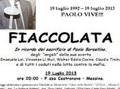 Messina Fiaccolata ricordo Paolo Borsellino tutti caduti nella lotta contro mafia