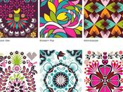 Vivaci colorati patterns deliziosi artworks hanna werning