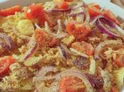 Sformato patate, pomodori cipolle rosse
