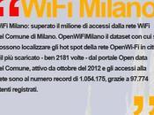 WiFi Milano: superano milione accessi alla rete Open Comune Milano