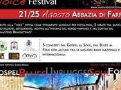 """""""Farfa Voice Festival"""" agosto 2013 all'Abbazia Farfa, frazione Fara Sabina, Rieti."""