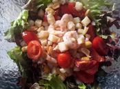 Insalata gamberetti arachidi Shrimps peanuts salad Salade crevettes cacahoutètes