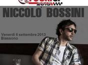 Venerdì settembre 2013 torna Biassono rassegna musicale FuoriGP grande artista rock Niccolò Bossini.