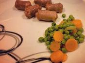 Salsicce piselli carote