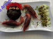 Riso venere cruditè gamberi rossi sicilia gelatina prosecco anguria