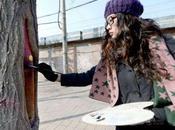 Street artist Wang