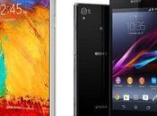 Galaxy Note Xperia test giochi video)
