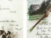 colori sapori della Bella Epoque menu' scritti mano principessa Adele Borghese