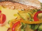 Salmone alle verdure