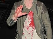 Jonathan Rhys-Meyers vestito zombie festa maschera Halloween