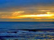 Dall'alba tramonto nella Laguna Veneta.