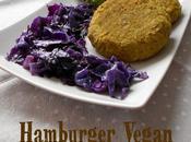 Hamburger vegan cappuccio viola quenelles spuma bagnetto verde
