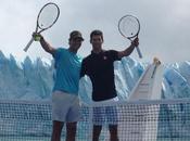spettacolare esibizione Rafa Nadal Djokovic davanti ghiacciaio Perito Moreno