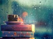 Libri giorno pioggia. Rainy Books tengono caldo