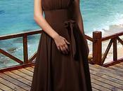 abito damigella colore brown