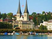 Lucerna, bellezza invernale svizzera lago montagne
