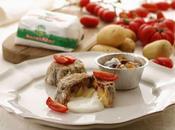 Tortino alici pomodorini, patate crema Piave