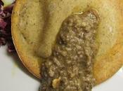 Raviolone Saraceno robiola tartufo pesto trevigiana nocciole.