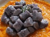Gnocchetti patate viola crema zucca