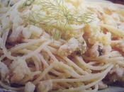 Spaghetti acciughe finocchi