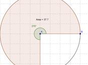Problemi svolti: determinare ampiezza settore circolare nota l'area cerchio viceversa)