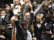 Bagarre parlamento decreto imu-bankitalia