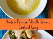 Brodo Pollo alla Salvia Carote Curry Caldo Frango, Frango Salva Cenouras